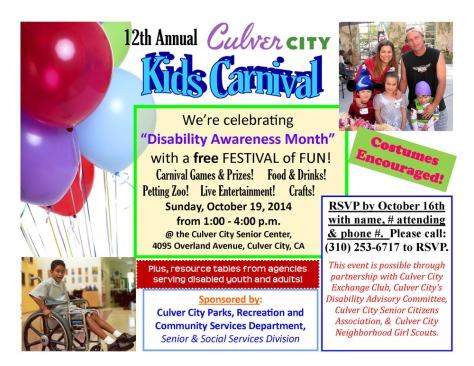 Disability Awareness Carnaval Culver City 10-19-2014